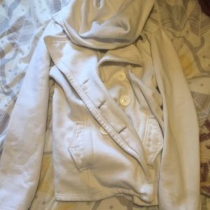 White pea coat from wet seal